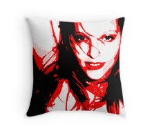 Red Girl Throw Pillow