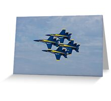 Blue Angels - Diamond Formation Greeting Card
