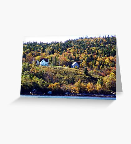 A Country Home Greeting Card