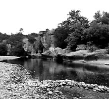 The Ardeche river  Southern France by Gareth Stamp