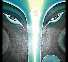Watching Ganesha by usharai