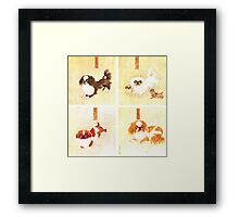 1800s Dog illustrations Framed Print