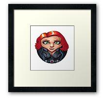 Black Widow CircleToon Framed Print
