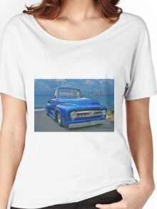 Blue Mercury Pickup on the Beaches of Mexico Women's Relaxed Fit T-Shirt