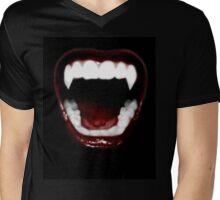 Vampire Teeth Mens V-Neck T-Shirt