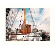 Tall Ship Elisa Pilot House Art Print