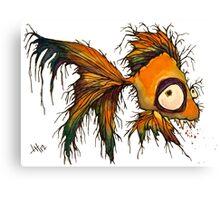 gold fingerrrrr the zombie fish Canvas Print