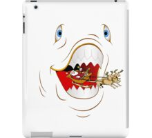 Santa Spitting Shark Humorous Christmas Products iPad Case/Skin
