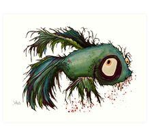"""ds"" the zombie betta fish Art Print"