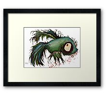 """ds"" the zombie betta fish Framed Print"
