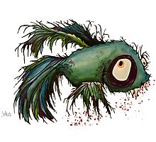 """ds"" the zombie betta fish Photographic Print"