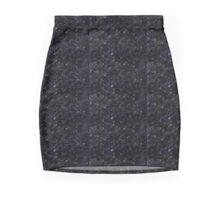 Black, Gray, White, and Blue Mini Skirt