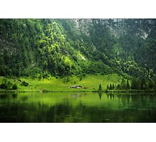 Green reflections Photographic Print