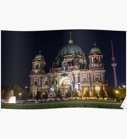 Berlin Cathedral and Fernsehturm Poster