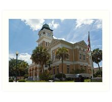 Suwannee County Courthouse 2 Art Print