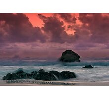 Big Sur Sunset Storm Photographic Print