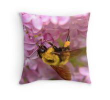 HoneyBee on Lilac Throw Pillow