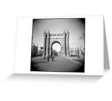 Arco del Triunfo Greeting Card