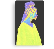 Jhene Colorful Fuzz Canvas Print