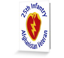25th Infantry - Afghanistan Veteran Greeting Card