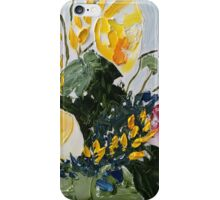 Impasto flowers 2 iPhone Case/Skin