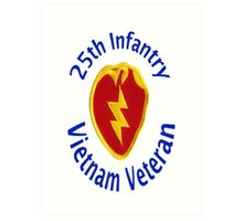 25th Infantry - Vietnam Veteran Art Print