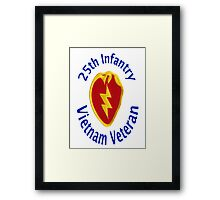 25th Infantry - Vietnam Veteran Framed Print