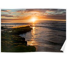 Onkaparinga River Mouth at sunset 1 Poster