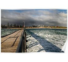 Storm off the jetty 1 Poster