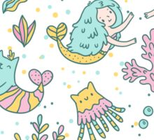 Mermaids & cats Sticker