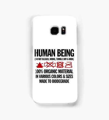 the care & washing of humans Samsung Galaxy Case/Skin