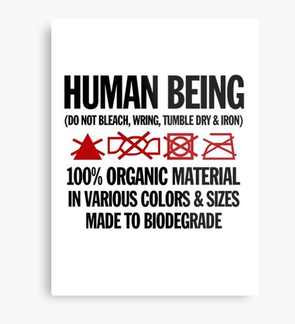the care & washing of humans Metal Print