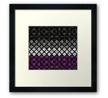 Asexual Diamond Scales Pattern Framed Print