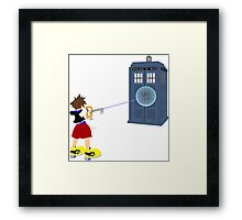 Sealing the TARDIS Framed Print