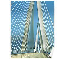 bridge to the peloponnese peninsula Poster