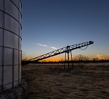 Manure stacking a sunset by fromoven