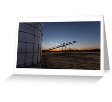 Manure stacking a sunset Greeting Card