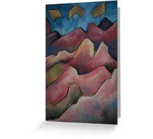Pink Cliffs Greeting Card