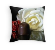 Chocolate Covered Cherry Throw Pillow