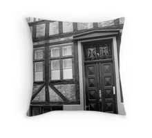 Geometric Facade Throw Pillow