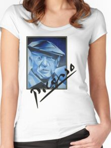 Picasso's Signature Women's Fitted Scoop T-Shirt