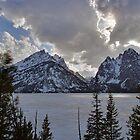 Frozen Jenny Lake - Teton National Park by Stephen Beattie