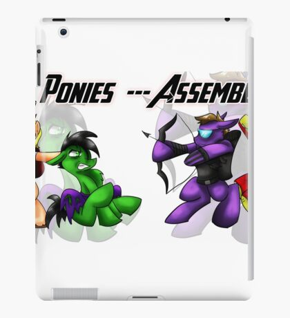Ponies Assemble  iPad Case/Skin