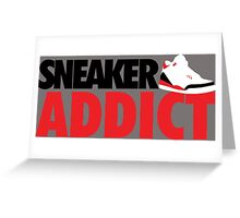 Sneaker Addict J3 Fire Red Greeting Card
