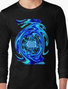 Blue Liquid-Tee Long Sleeve T-Shirt