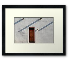 Late Entry Framed Print