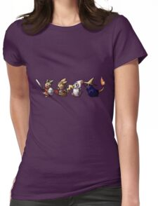 Final Fantasy Pokemon Womens Fitted T-Shirt