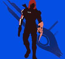 Commander Shepard (Female) - Sunset Shores by Kevandre