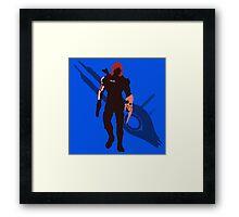 Commander Shepard (Female) - Sunset Shores Framed Print