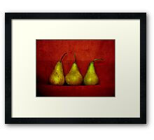 The Three Pears Framed Print